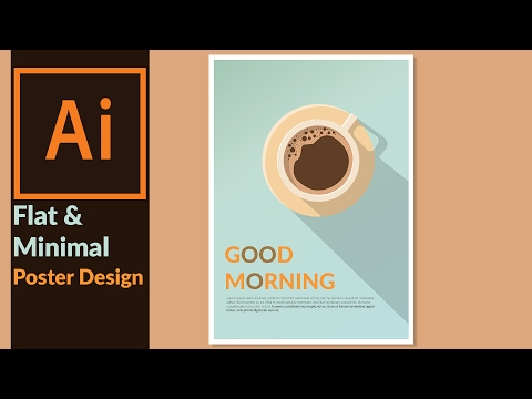 Designing a Minimal & Flat Design Poster in Adobe illustrato