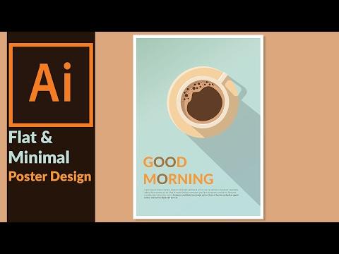 Designing a Minimal & Flat Design Poster in Adobe illustrator