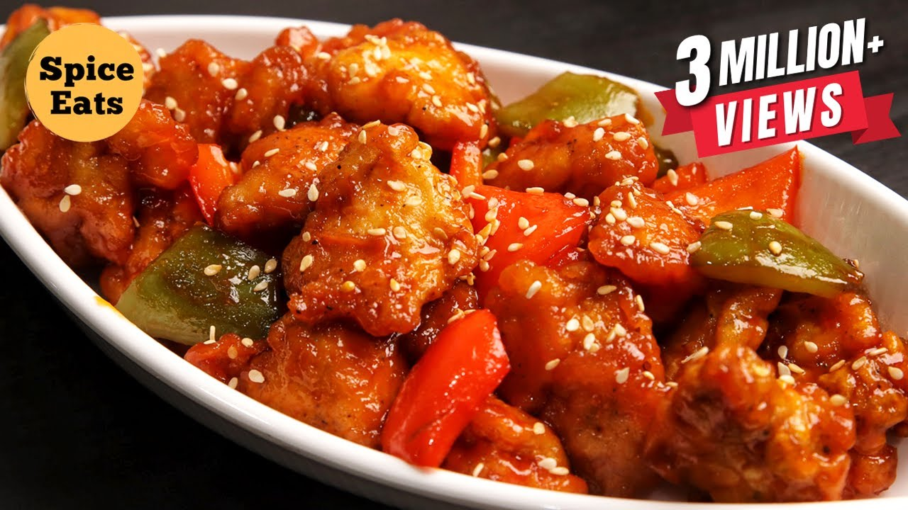 Sweet And Sour Chicken Recipe Sweet And Sour Chicken Restaurant Style By Spice Eats Youtube
