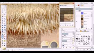 Thatch painting demo