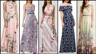 High Class Stylish And Trendy Beautiful Printed Long Maxi Design