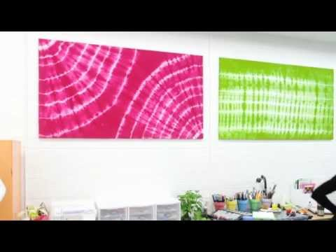 How To Create Amazing Wall Art With Tulip Tie-Dye - YouTube