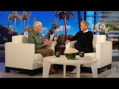 Animal Rights Icon Jane Goodall Visits Ellen For The First Time