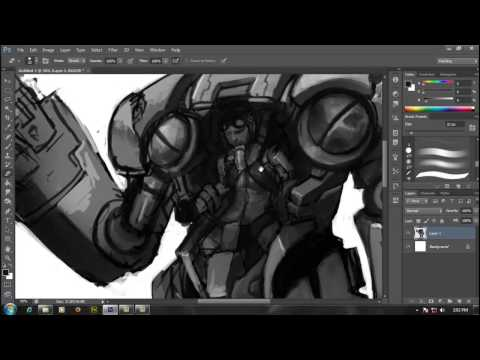 ISI Digital Painting #3 - Painting Mech Character Concept, with Surya Prasetya