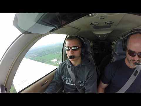First small aircraft flight over Hershey, Harrisburg, and Annville, Pennsylvania