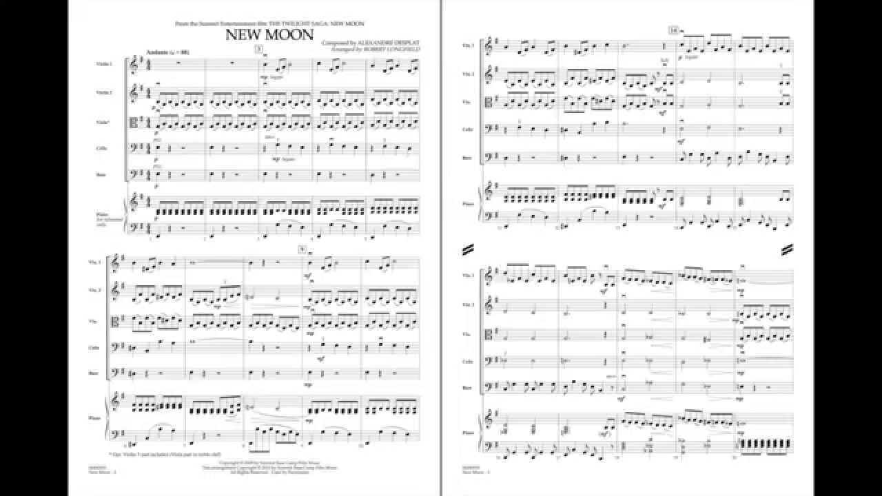 New Moon By Alexandre Desplat Arr Robert Longfield Youtube