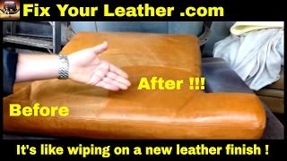 ANILINE LEATHER REPAIR Kit - Aniline Renew Dye - AMAZING unique product !