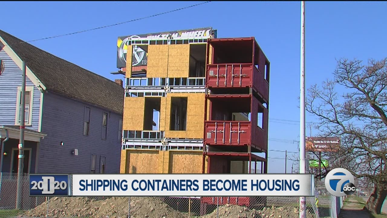 shipping containers used for homes - youtube