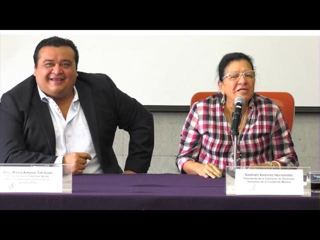 Discurso de la Ombudsperson capitalina, Nashieli Ramírez, en Firma con CDH Quintana Roo