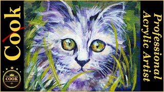 Jungle Kitty Kitten Acrylic  Painting Tutorial with Ginger Cook thumbnail