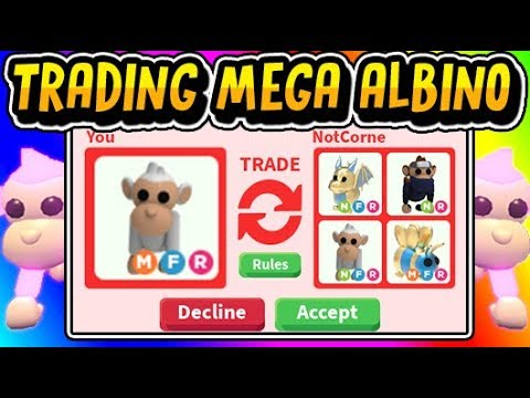 What People Trade For Mega Neon Albino Monkey In Adopt Me Adopt
