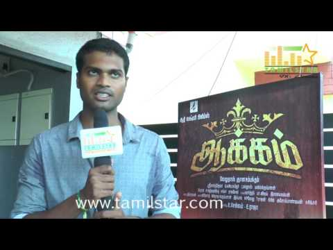 Sathish Ravan at Aakkam Movie Team...