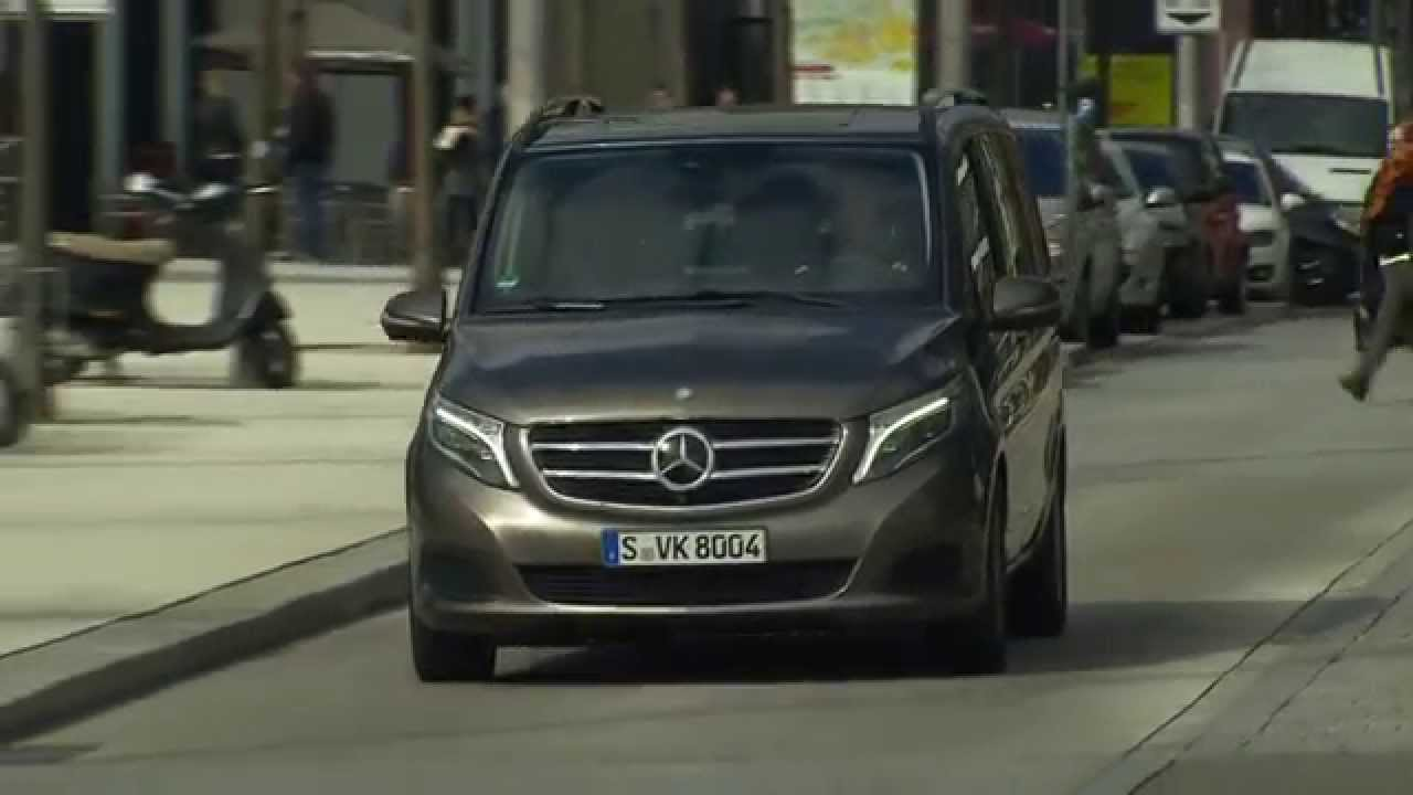 2015 Mercedes Benz V-Class 250 BlueTEC Indium Grey Metallic Drive - YouTube