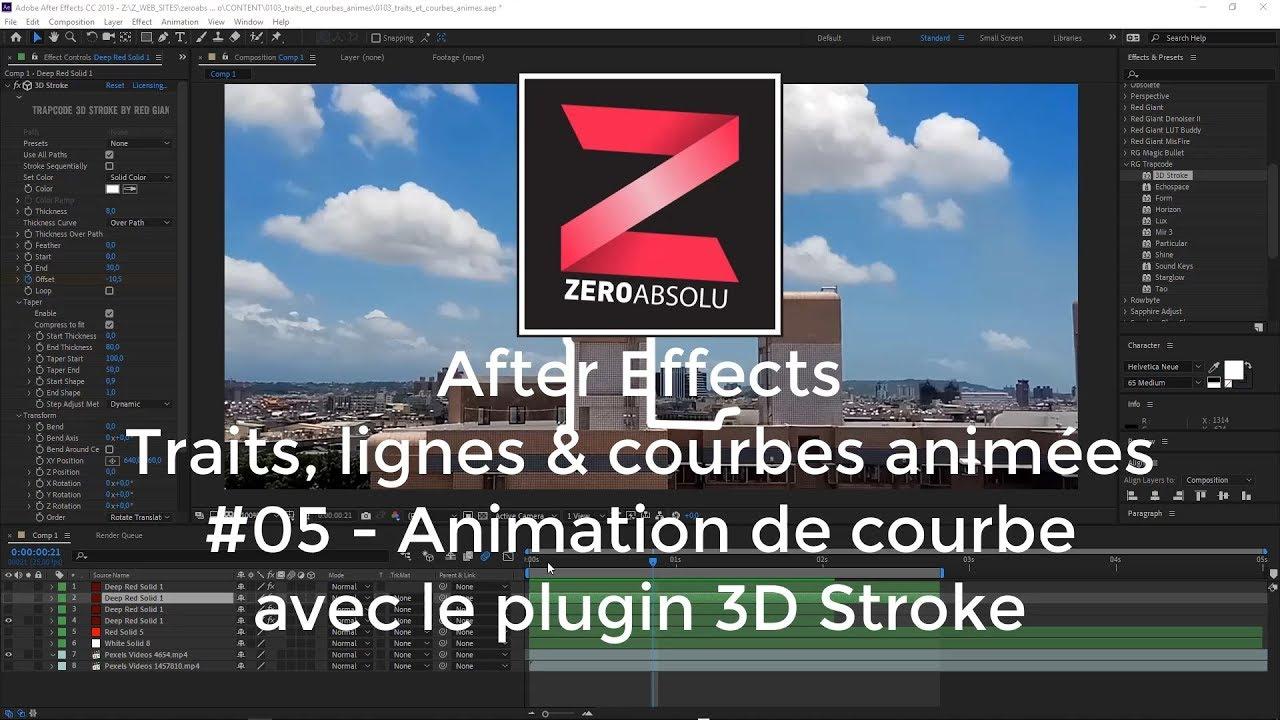 Tuto After Effects - Série : Trait, Lignes et Courbes - Part 04 : Animation  avec 3D Stroke