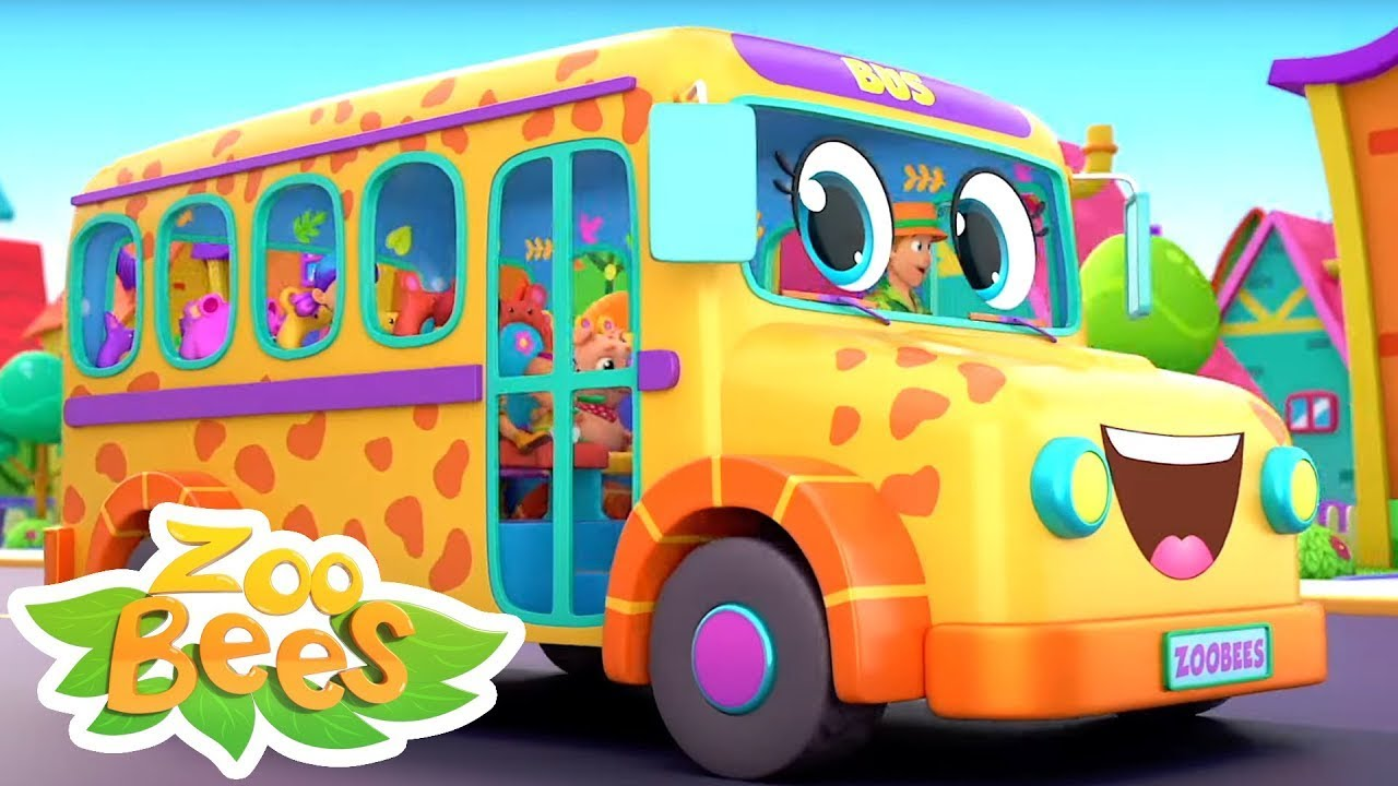 Download Wheels On The Bus   Finger Family   Children's Music   Baby Song Cartoon   Nursery Rhymes  - Zoobees