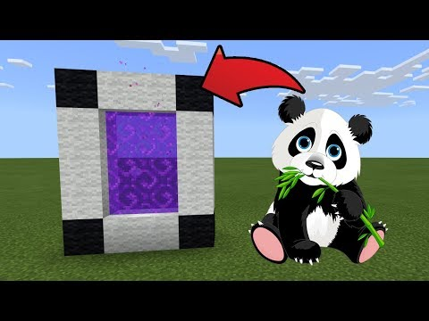How To Make a Portal to the Panda Dimension in MCPE (Minecraft PE)