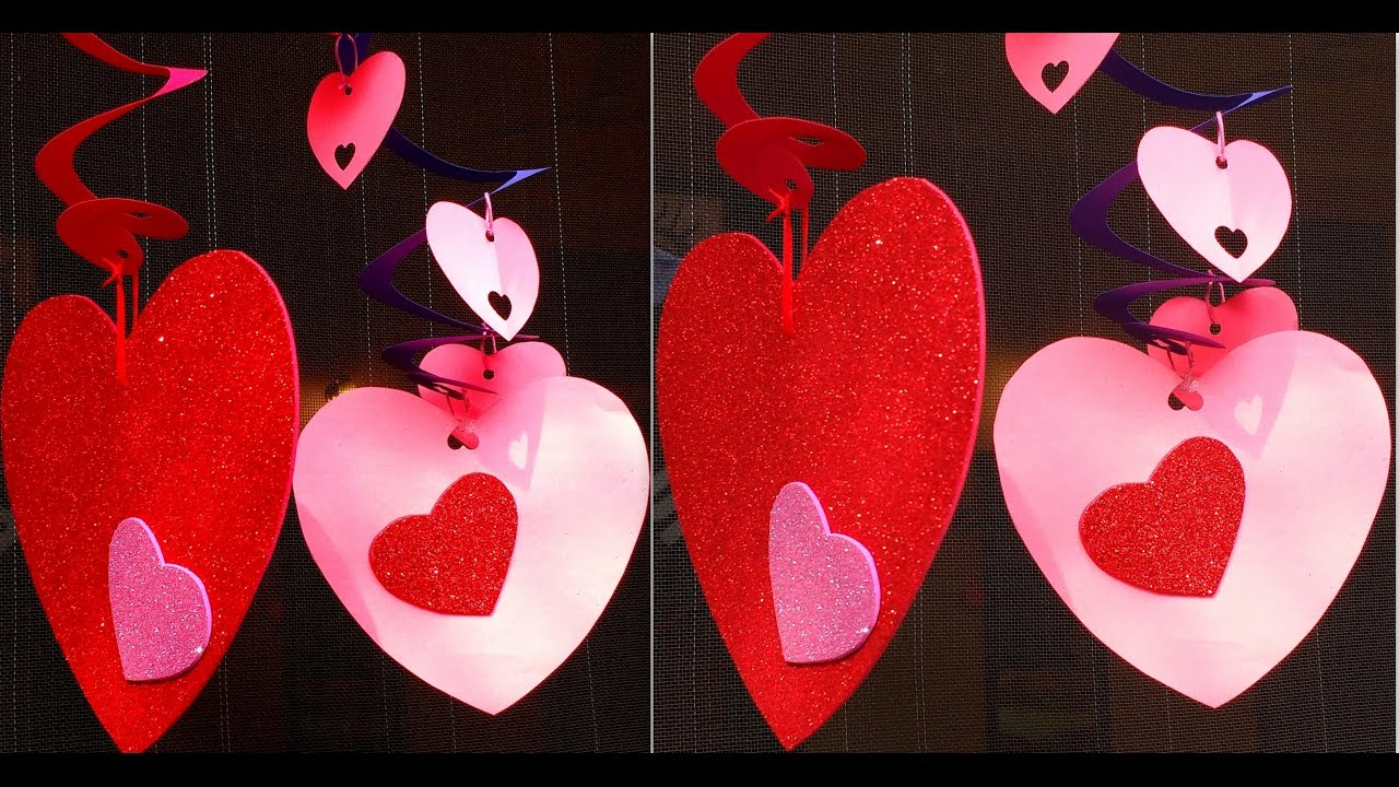 Diy how to make valentine 39 s day party home decorations Diy valentine s day decorations for home