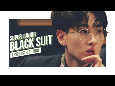 Super Junior - Black Suit Line Distribution (Color Coded) | 슈퍼주니어 - 블랙수트