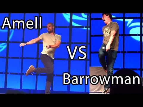 Arrow's Amell vs Barrowman Prank w Jazz Kick Oliver & Malcolm Merlyn meeting Phoenix Comicon