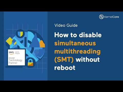How to disable the CPU simultaneous multithreading (SMT) without reboot
