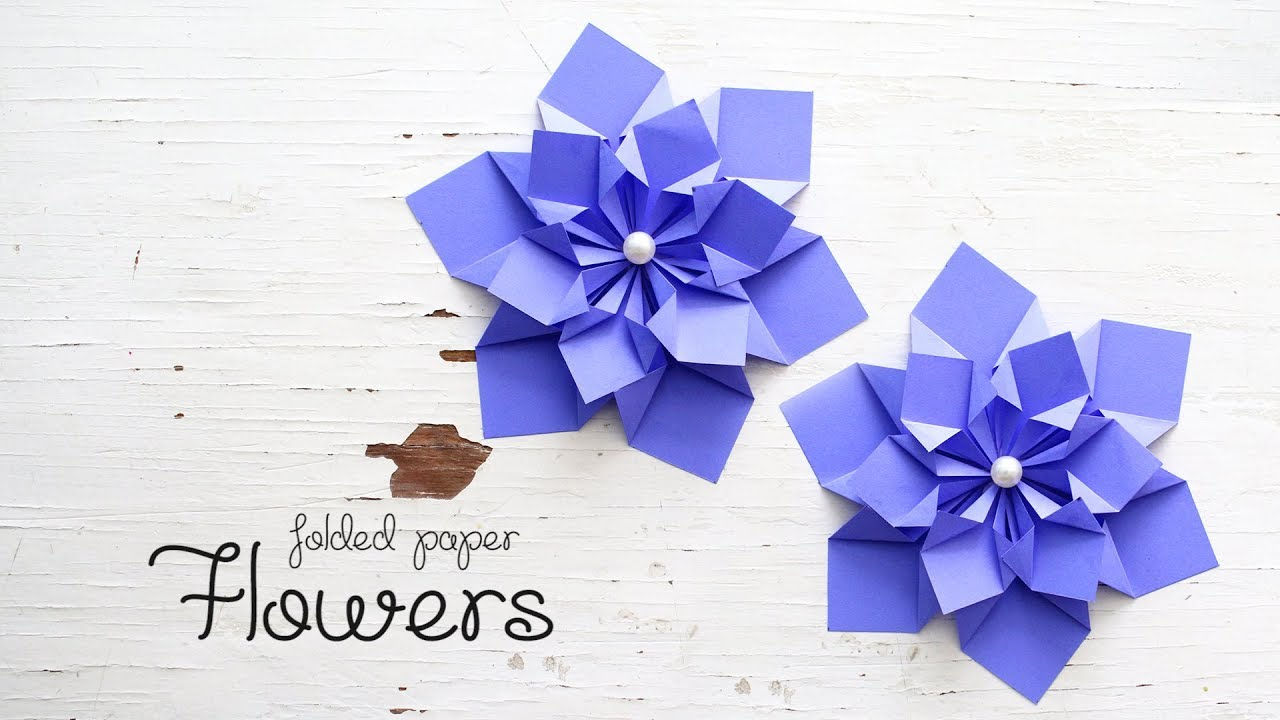 Diy Folded Paper Flowers Youtube