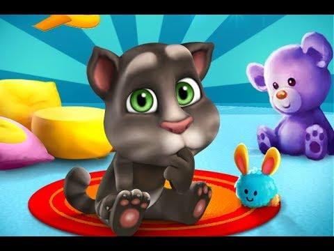 Играем в мини игру с мышами с Говорящим Котом Томом в видео для детей поигре talking tom
