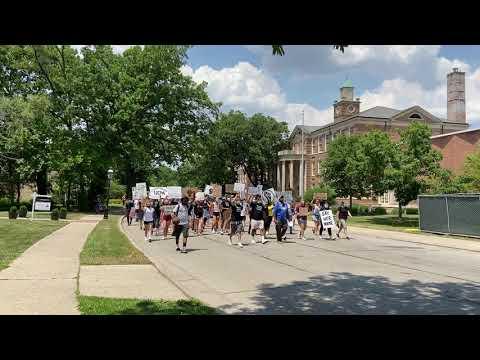 Racial justice demonstration in Riverside, June 19, 2020