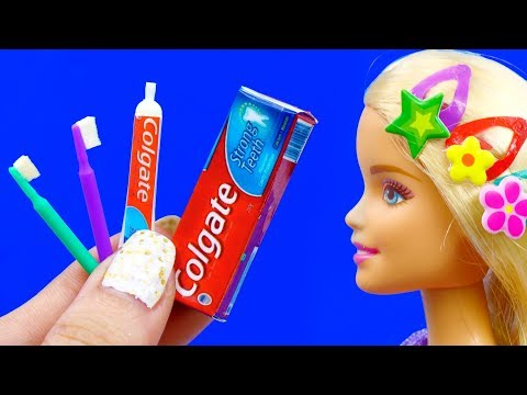 26 DIY BARBIE IDEAS ~ Miniature Paints, Hairpins, Donuts, Toothpaste AND Many MORE!