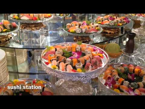 awesome food display (Arab wedding)