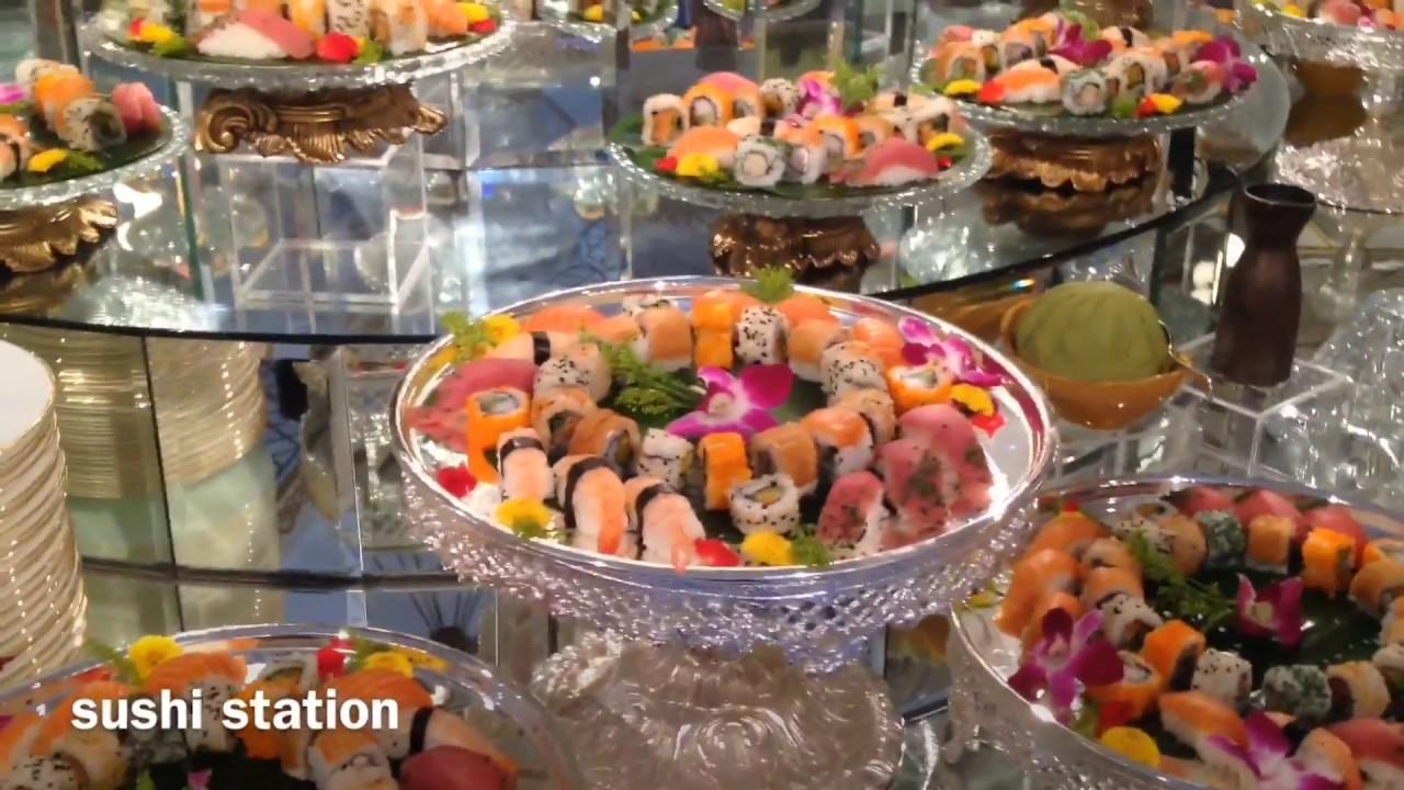 Awesome Food Display Arab Wedding Youtube Assortment of sushi assortment of sashimi ahi poke spicy tuna on crispy rice soy beans egg roll dumplings. youtube