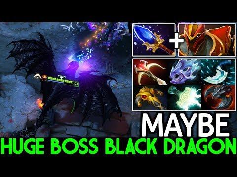 MAYBE [Dragon Knight] The Huge Boss Black Dragon Crazy Gameplay 7.22 Dota 2
