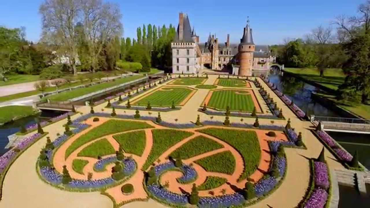 drone des jardins la fran aise au ch teau de maintenon youtube. Black Bedroom Furniture Sets. Home Design Ideas
