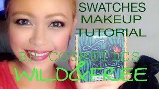 bh cosmetics wild and free palette swatches and makeup tutorial   makeupbybrevie