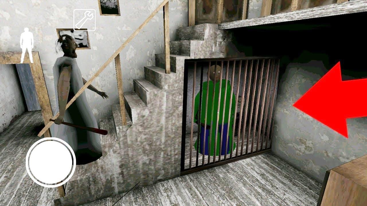 Granny Mod Baldi's basics – Granny caught Baldi teacher in the cage – The Horror Full Gameplay