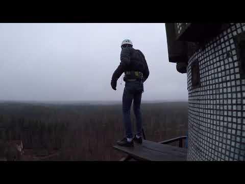 Прыжки с Гвоздя с командой RAPT - Данила