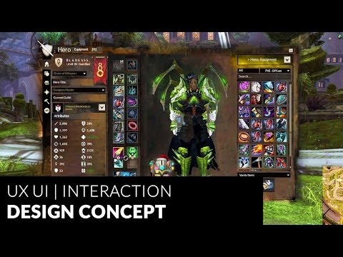 Guild Wars 2 - MMO Game | UX UI Redesign | Interaction Design