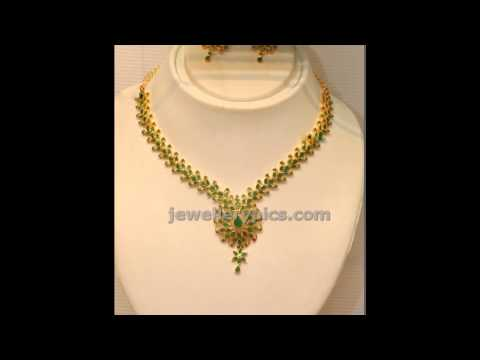 Latest Emerald Necklace Designs 2014 models