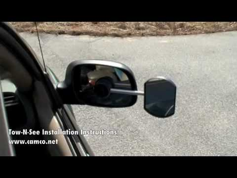 Tow n see installation instructions camco 25688 youtube for Miroir tow n see