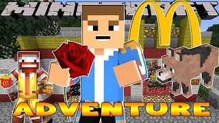 Minecraft - Little Donny Adventures - MC DONALDS, THE MALL & SHOPPING FOR PRESENTS