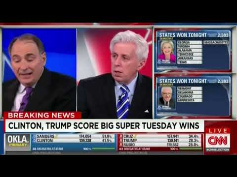 CNN's Super Tuesday 2016 Coverage – 12am to 3am [No Commercials]