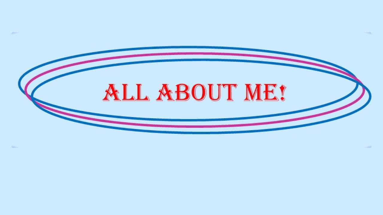 all about me powerpoint sample for youtube - youtube, Presentation templates