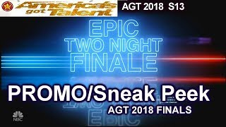 PROMO / Sneak Peek AGT Finals America's Got Talent 2018 Finale  Promo  AGT