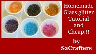 DIY:How To:Make your own glass glitter and cheap!!!!