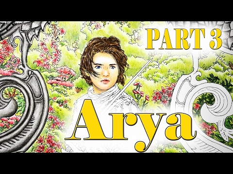 Colouring Tutorial Game Of Thrones Arya Stark Part 3 With Polychromos Coloured Pencils