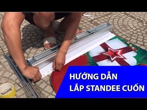 Hướng Dẫn Lắp Standee Cuốn – Cách Lắp Chân Standee Cuốn
