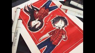 Marceline and Marshall Lee Fanart [speedpaint]