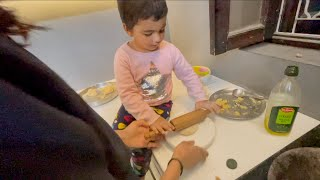 Rashi made her First Paratha for Papa