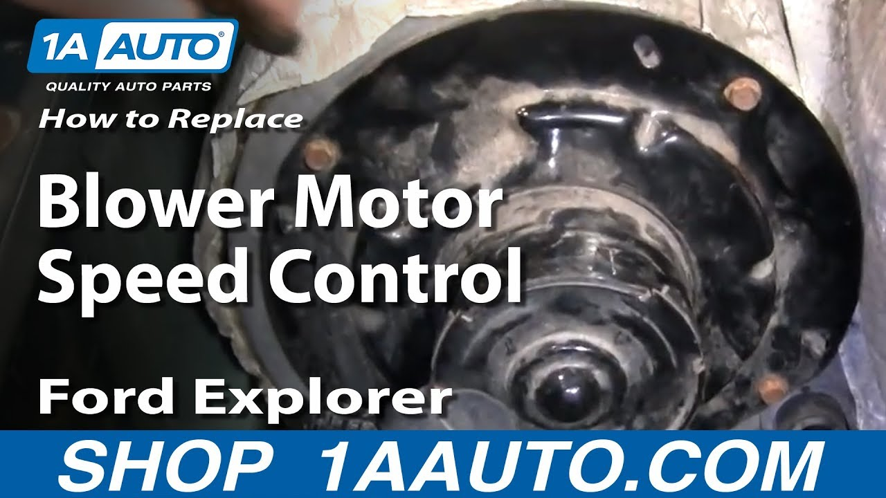 auto repair replace blower motor speed control ford explorer 95 01 rh youtube com