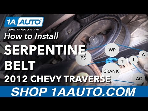 [SCHEMATICS_44OR]  How to Replace Serpentine Belt 09-13 Chevy Traverse - YouTube | 2010 Chevy Traverse Engine Diagram |  | YouTube