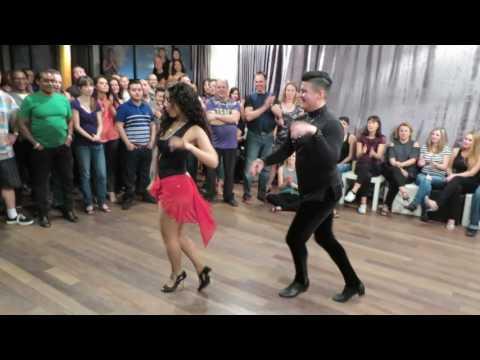 Victor Alexis & Giulia (Pro-Am Salsa) at the Moka Socials on January 7th 2017